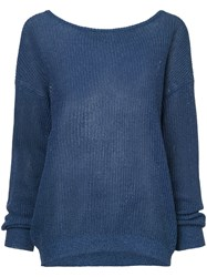 Cityshop Classic Long Sleeve Sweater Blue