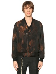The Kooples Golden Leaves Jacquard Ottoman Bomber