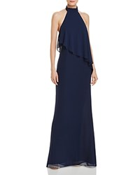 Laundry By Shelli Segal Chiffon Halter Gown Midnight