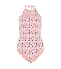 Marysia Mott Maillot Printed Reversible Swimsuit Pink