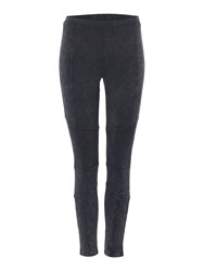 Label Lab Bay Acid Wash Biker Legging Charcoal