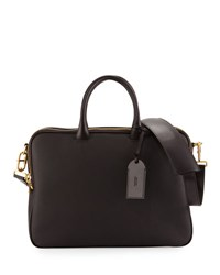 Tom Ford Leather Double Zip Briefcase Chocolate Brown