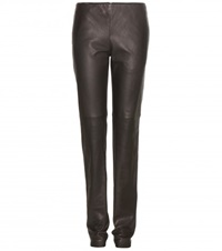 Bottega Veneta Leather Trousers Brown