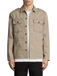Allsaints Dieppe Long Sleeve Shirt Olive Green