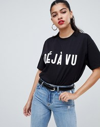 Ax Paris Deja Vu Short Sleeve T Shirt Black