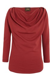 Vivienne Westwood Anglomania Amber Draped Jersey Top Merlot