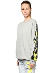 Filles A Papa One Sleeve Sequined Flame Sweatshirt