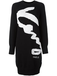 Kenzo Signature Sweater Dress Black