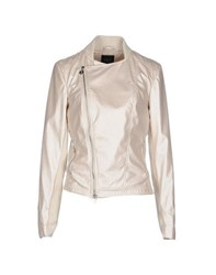 Twin Set Jeans Coats And Jackets Jackets Women Ivory