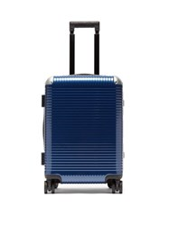 Fabbrica Pelletterie Milano Bank Light Spinner 53 Cabin Suitcase Blue