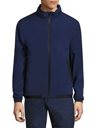 North Sails Solid Zip Front Jacket Blue
