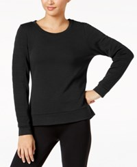 32 Degrees Quilted Fleece Top Black