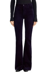 J Brand Women's 'Maria' Velvet Flare Pants Twilight Purple