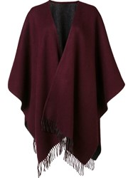 Rag And Bone Fringed Ends Shawl Scarf Red