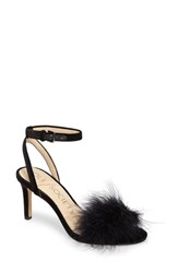 Sole Society Women's Lindzay Feather Sandal Black