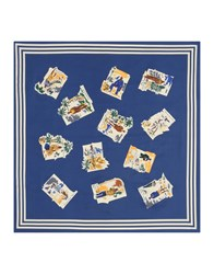 Faconnable Square Scarves Dark Blue