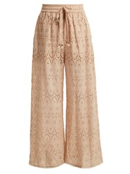 Zimmermann Bayou Cotton And Silk Blend Trousers Nude