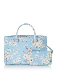Cath Kidston Wellesley Blossom The Thistleton Small Tote Light Blue