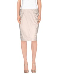Caramelo Skirts Knee Length Skirts Women Beige