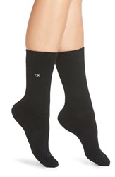 Calvin Klein Women's Lux Ribbed Crew Socks