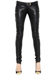 Balmain Nappa Leather Biker Pants