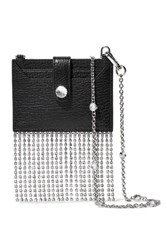 415efc33af02 Miu Miu Madras Crystal Embellished Textured Leather Shoulder Bag Black