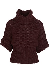 Acne Studios Ginette Wool Blend Turtleneck Sweater Red