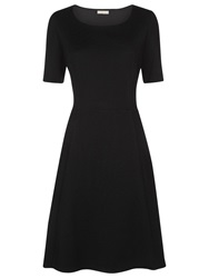 Planet Textured Fit And Flare Dress Black