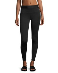 Heroine Sport Studio Mesh Trim Performance Leggings Black