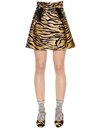 Kenzo High Waist Tiger Jacquard Skirt