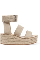Rag And Bone Tara Canvas Espadrille Platform Sandals Ecru