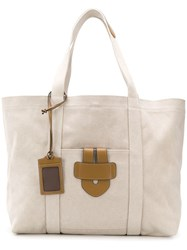 Tila March Leather Tote Neutrals