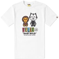 A Bathing Ape X Felix The Cat 1 Tee White