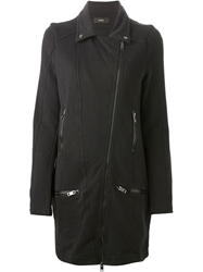 Diesel Zipper Coat Black