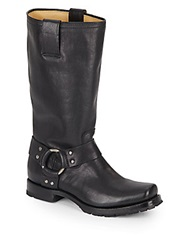 Frye Heath Leather Harness Boots Black