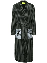Ex Infinitas Off The Grid Checked Coat Black