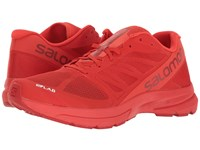 Salomon S Lab Sonic 2 Racing Red Molten Lava White Athletic Shoes