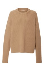 Michael Kors Collection Cashmere Crewneck Pullover Brown