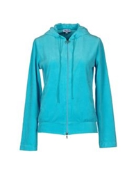 Blumarine Beachwear Hooded Sweatshirts Turquoise