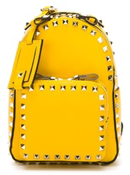 Valentino Garavani 'Rockstud' Backpack Yellow And Orange