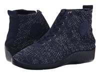 Arcopedico Shocks 5 Navy Starry Nite Women's Flat Shoes Black