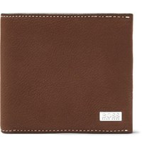 Hugo Boss Crosstown Full Grain Leather Billfold Wallet Tan