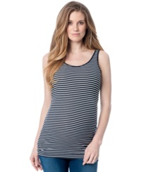 A Pea In The Pod Maternity Striped Ribbed Tank