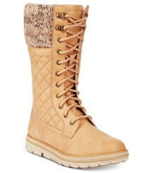 White Mountain Cliffs By Karline Quilted Cold Weather Boots Women's Shoes Wheat
