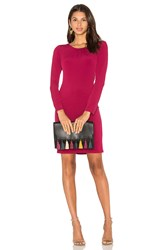 Velvet By Graham And Spencer Hester Long Sleeve Bodycon Dress Fuchsia