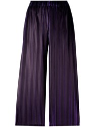 Issey Miyake Pleats Please By Straight Cropped Trousers Black