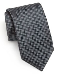Pal Zileri Textured Silk Tie Navy