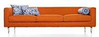 Moooi Boutique Delft Blue Triple Seater Sofa Orange