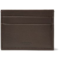 Shinola Leather Cardholder Dark Brown