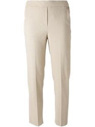 Fay Cropped Crepe Trousers